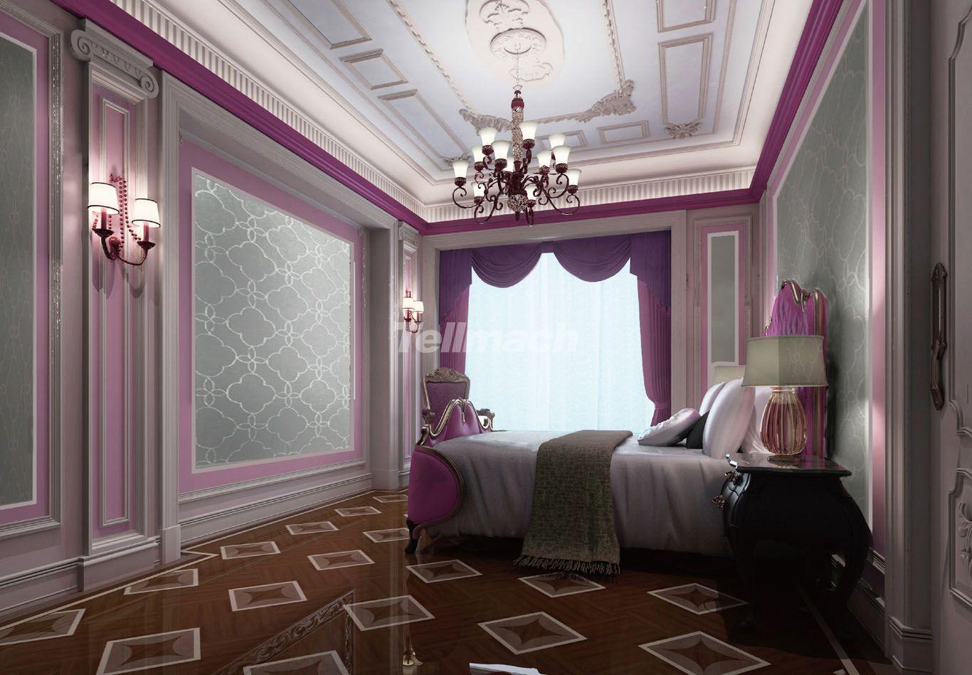 以优美为主  客房装修:    客房白色,紫色,蓝色是欧式风格中常见的主