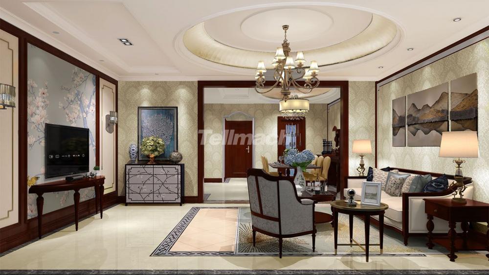 摆脱传统中式的繁琐,将新中式元素与现代家居完美融合。